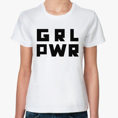 Классическая футболка GRL PWR