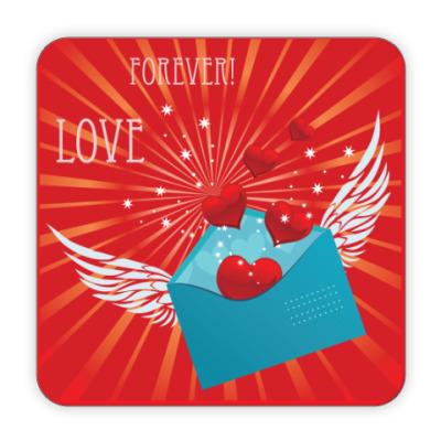Костер (подставка под кружку) Любовь навсегда!