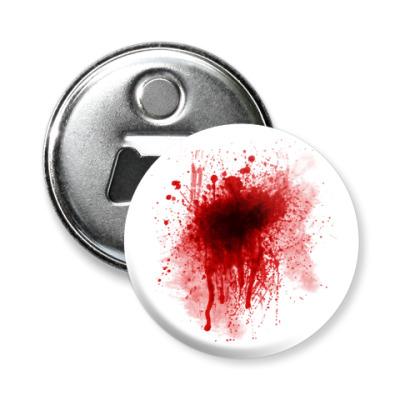 Магнит-открывашка Брызги крови