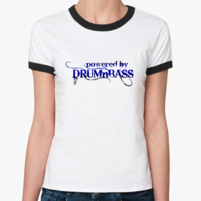 Женская футболка Ringer-T DRUM'n'BASS