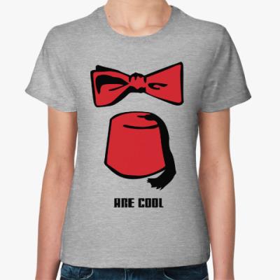 Женская футболка Доктор Кто фезка бабочка