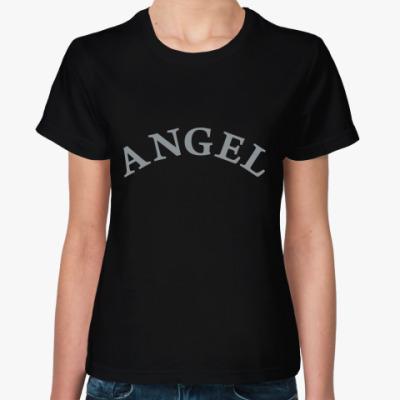 Женская футболка Angel с крыльями