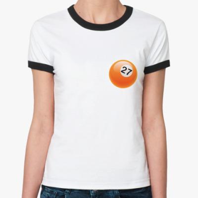 Женская футболка Ringer-T Шар 27
