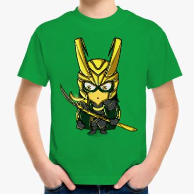 Детская футболка Миньон Локи