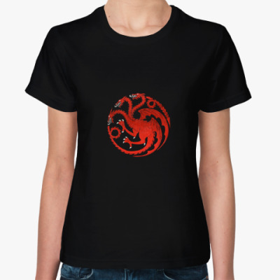 Женская футболка Fire and blood, Game of thrones