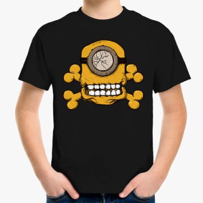 Детская футболка Череп Миньона