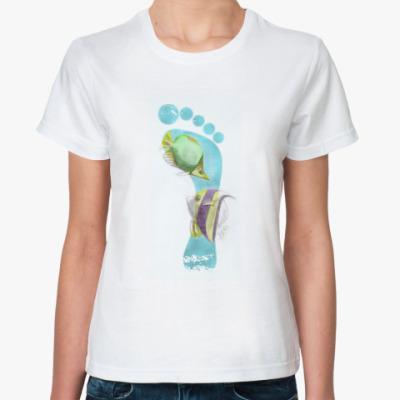 Классическая футболка Footprints/След на песке