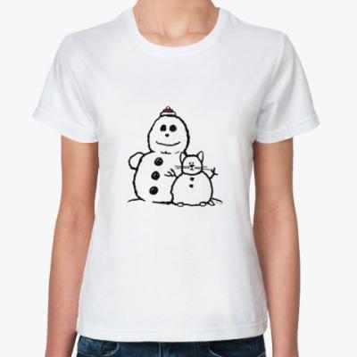 Классическая футболка Снеговики
