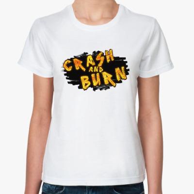 Классическая футболка Crash and Burn