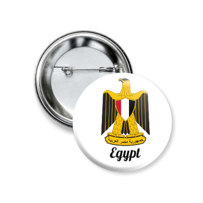 Значок 37мм Герб Египта.  Badge with the arms of Egypt.