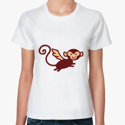 Классическая футболка Летучая Макака