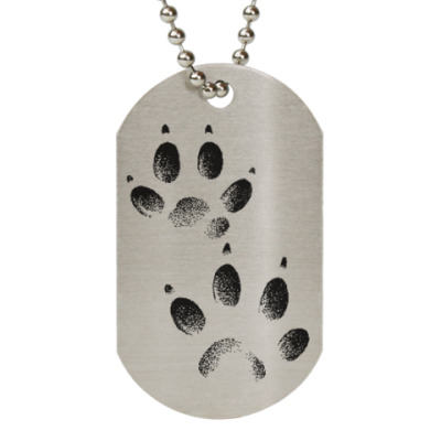 Жетон dog-tag  Лапки