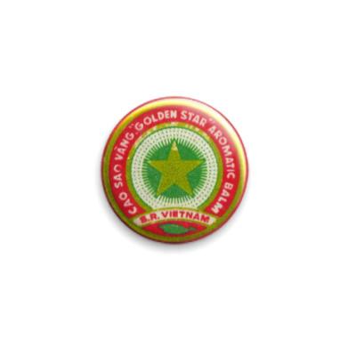 Значок 25мм «Вьетнамская звездочка»