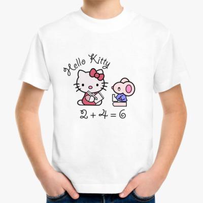 Детская футболка Китти в школе