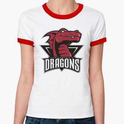 Женская футболка Ringer-T Драконы Таргариен