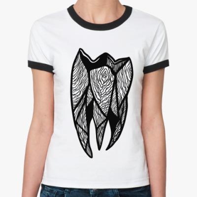 Женская футболка Ringer-T Tooth 4 tooth / Зуб за зуб