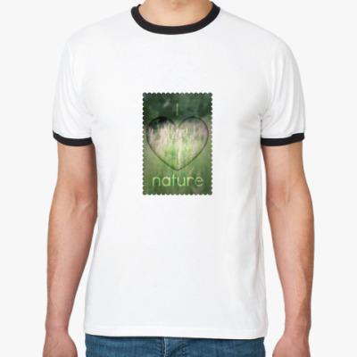 Футболка Ringer-T  'I Heart Nature'