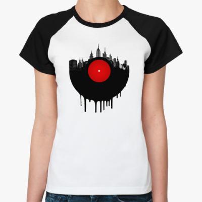 Женская футболка реглан Винил