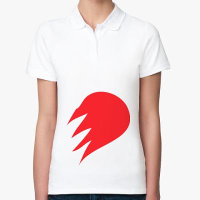 Женская рубашка поло Половинка сердца