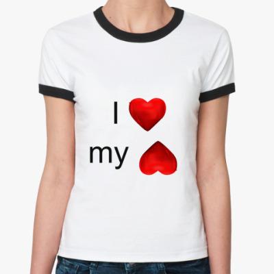 Женская футболка Ringer-T я люблю свою