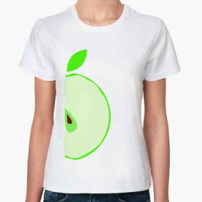 Классическая футболка Половина яблока