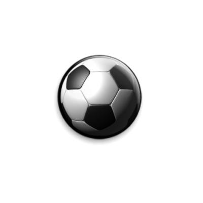 Значок 25мм  3d мяч