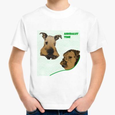 Детская футболка  'Два эрделя'