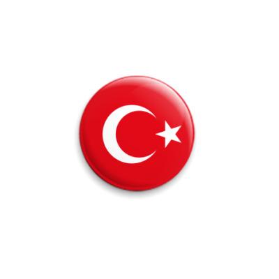 Значок 25мм Турция, Turkey