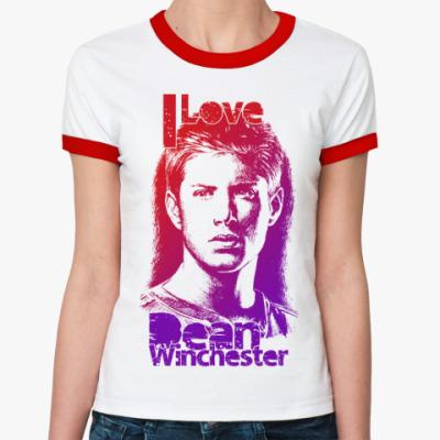 Женская футболка Ringer-T Dean Winchester R-T Ж(б/к)
