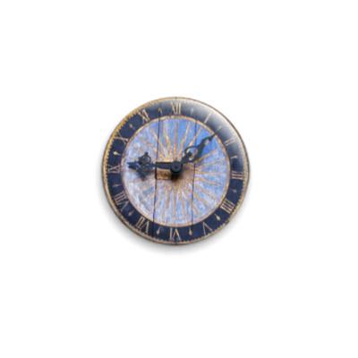 Значок 25мм  'Деревянные часы'