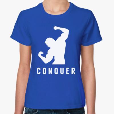 Женская футболка Побеждать