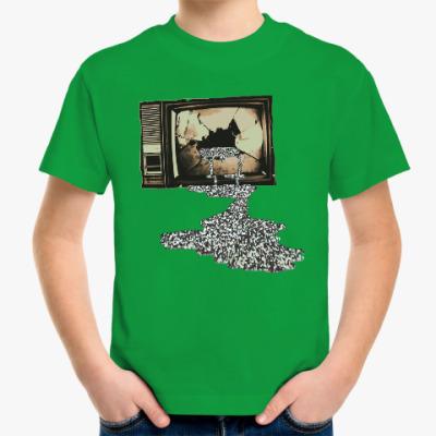 Детская футболка Разбитый телевизор
