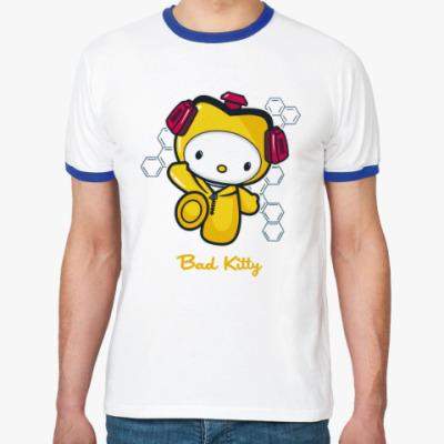 Футболка Ringer-T Bad Kitty