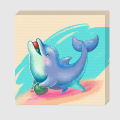 Холст Дельфин - песик