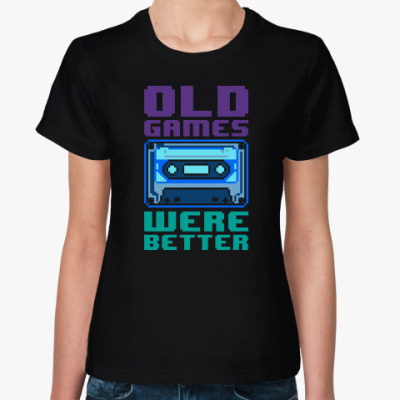Женская футболка Oldschool games were better