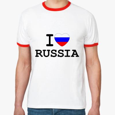 Футболка Ringer-T I Love Russia