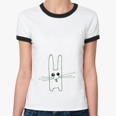 Женская футболка Ringer-T  Зайац (жен.)