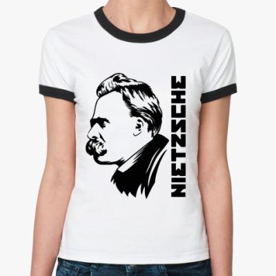 Женская футболка Ringer-T Nietzsche