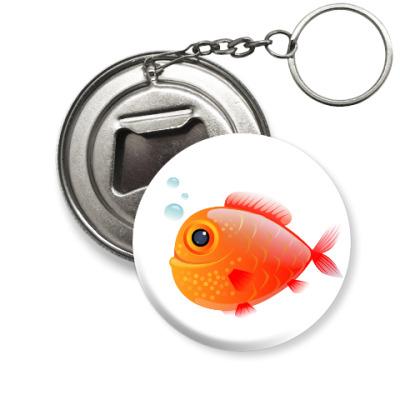 Брелок-открывашка Довольная рыба