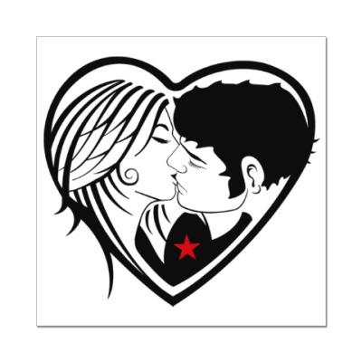 Наклейка (стикер) Kiss Forever