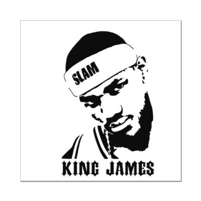 Наклейка (стикер) King James