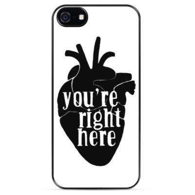 Чехол для iPhone you're right here