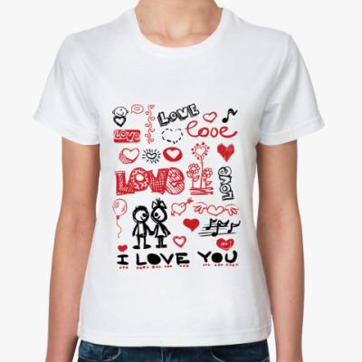 Классическая футболка Love mix
