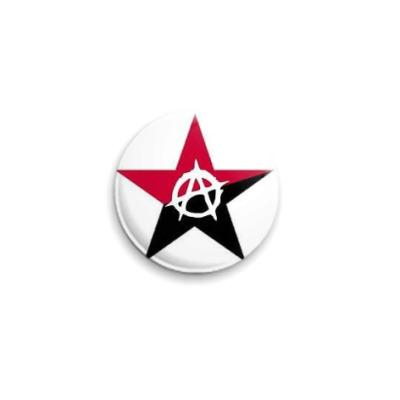 Значок 25мм Анархическая звезда