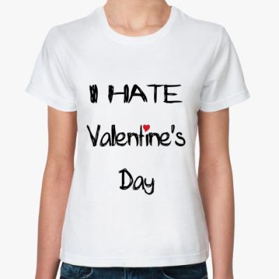 Классическая футболка I hate VD