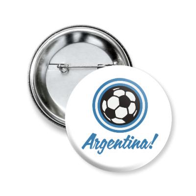 Значок 50мм Аргентина