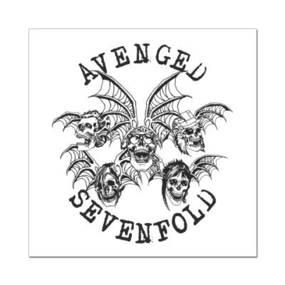 Наклейка (стикер)  Avenged Sevenfold