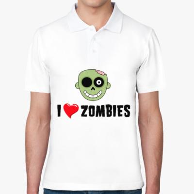 Рубашка поло I love zombies