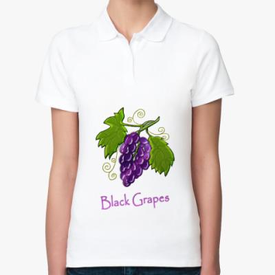 Женская рубашка поло Grapes