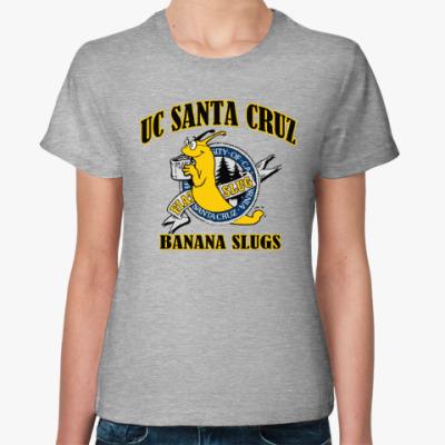 Женская футболка uc santa cruz banana slugs